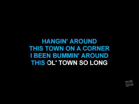 Hanginaround in the style of Counting Crows karaoke video with lyrics (no lead vocal)