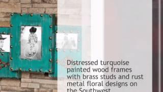 Southwest Turquoise Wall Picture Frame - Lonestarwesterndecor.com
