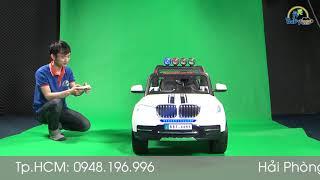 Review Ô tô điện trẻ em HUMMER 4 động cơ trắng BBT-8899T