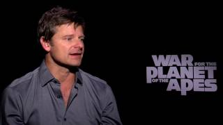 War for the Planet of the Apes Footage - Steve Zahn