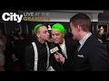 Blackbear Gives Mike Posner a Kiss on The GRAMMYs Red Carpet