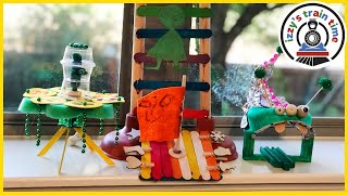 DIY TOY TRAINS AND ALIENS!