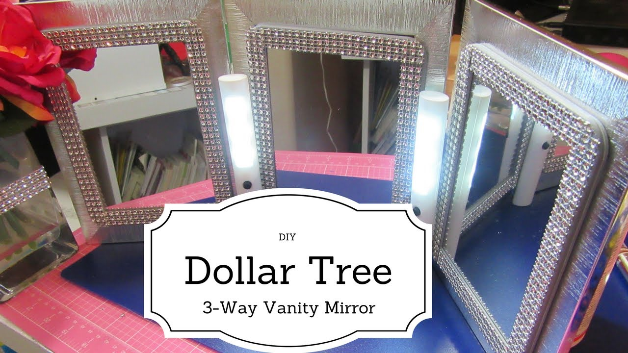 Diy Dollar Tree 3 Way Vanity Mirror Youtube