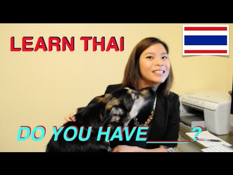 Learn Thai: #6 Do you have ___?