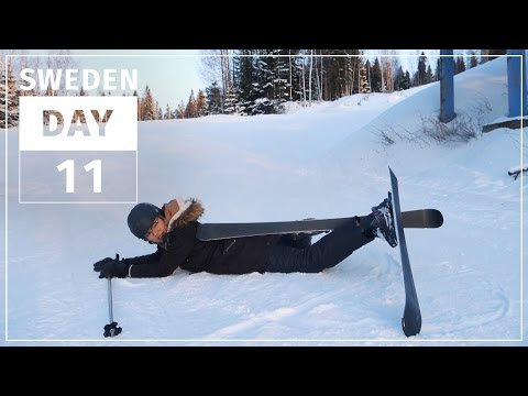 Skiing For The First Time | SWEDEN #11