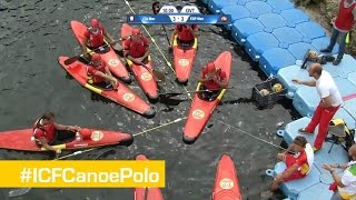 Men Bronze Match- Spain vs Italy | Canoe Polo World Championships 2014