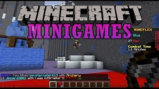 """""""MINIGAME MAYHEM"""" Minecraft Minigame Chaos! - Snake, Draw My Thing, One in The Chamber!!"""