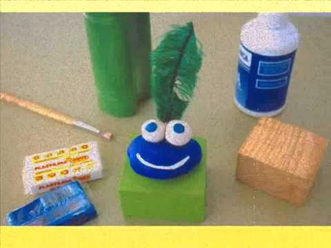 Manualidades con materiales desechables youtube - Material para manualidades infantiles ...