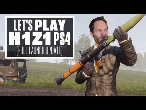 Let's Play H1Z1 PS4 launch update - ROCKET LAUNCHERS, SOCOM RIFLES AND A BATTLE PASS!