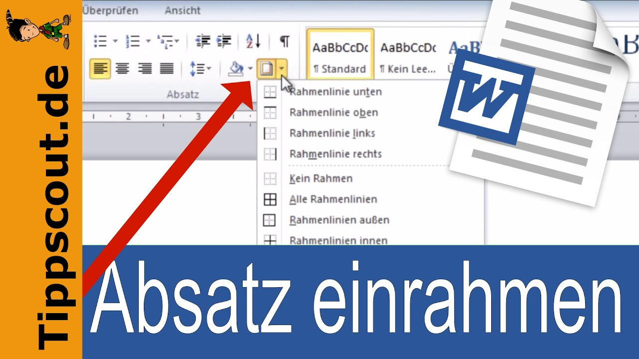 Rahmen in Word - YouTube