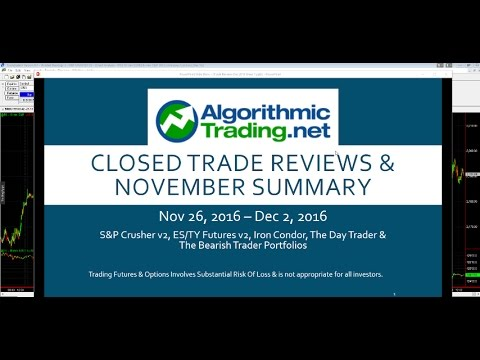 Algorithmic Trading Review: 11/26/16  - 12/2/16