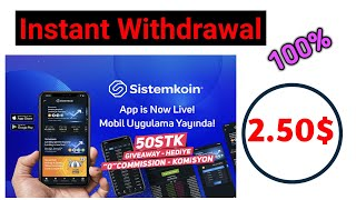 INSTANT WITHDRAWAL।।SISTEMKOIN 50 STK GIVEAWAY।। DOWNLOAD APP।।TRADE STK AND WITHDRAW TO YOUR ADDRES
