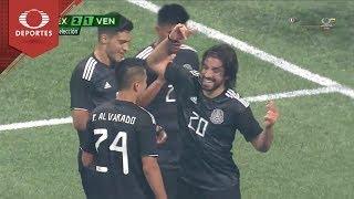 Gol de Pizarro | México 2 - 1 Venezuela | Partido Amistoso - Televisa Deportes