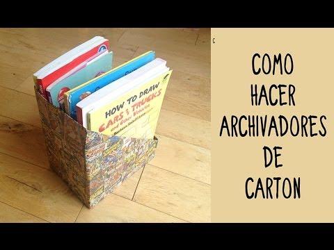 Archivadores personalizados de cart n ideas de reciclaje - Como forrar un mueble con papel ...