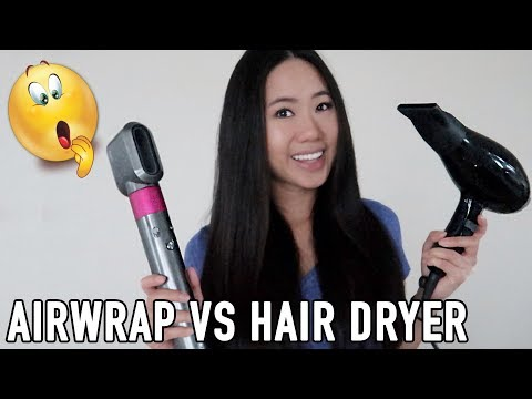 Can The Dyson Airwrap Replace A Hairdryer? Pre-Styling Vs Professional Dryer | Test & Honest Review
