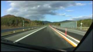 道央自動車道 下り 比布大雪PA→比布JCT 2008/10/12撮影