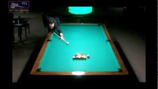 Straight Pool 99 Ball Run on 10 Foot Table / Former World Record on Video