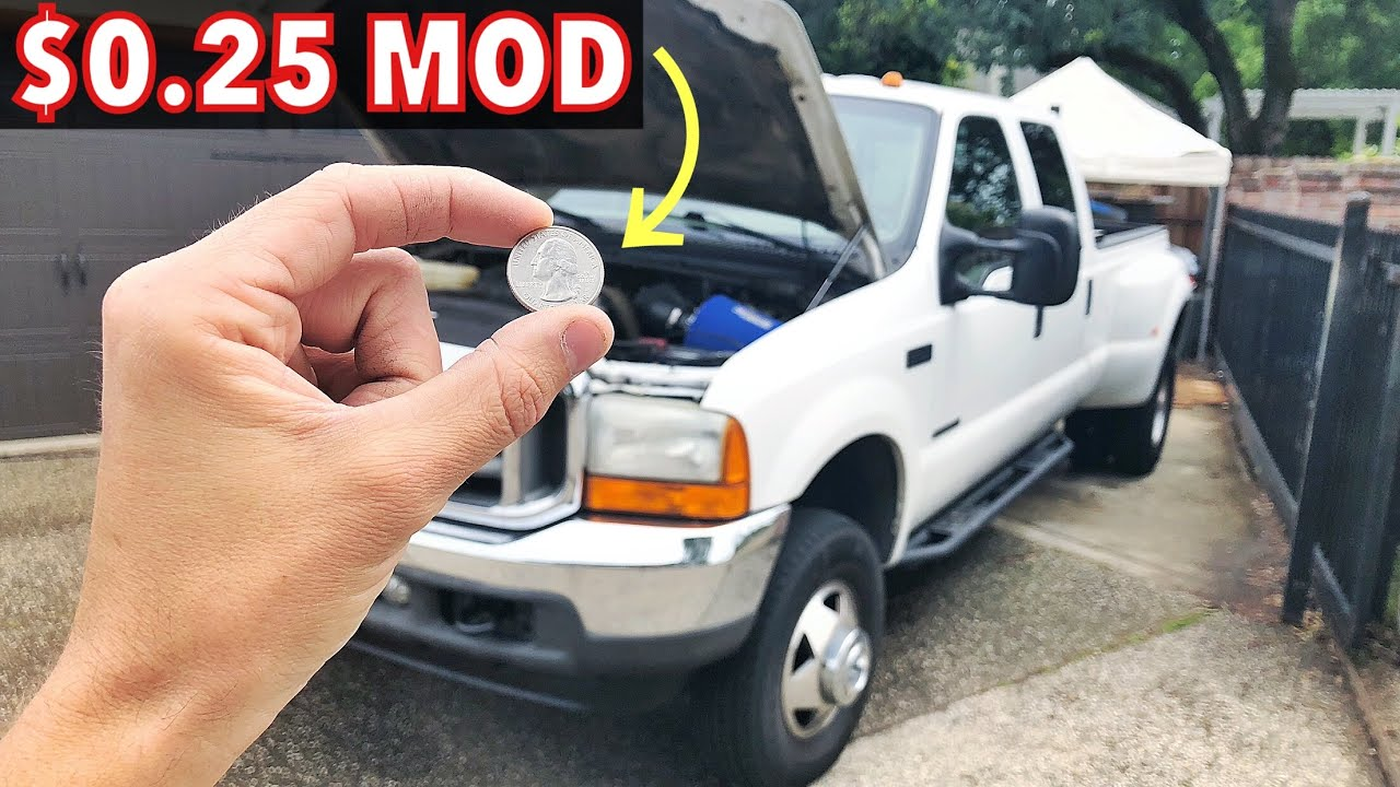 2001 F350 7 3 Powerstroke Quarter Mod Or 50 Cent Mod Stop Injectors Harness From Disconnecting Youtube