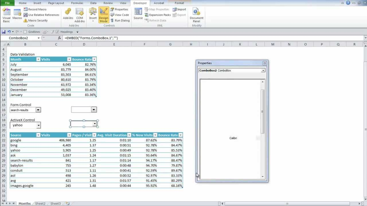 How To Do Three Different Drop Down Lists In Excel 2010