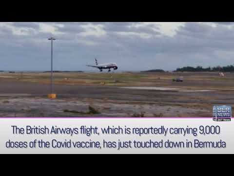 BA Flight Arrives Carrying Covid Vaccine, Jan 8 2021