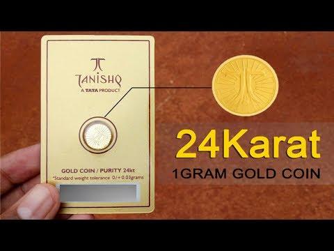 Tanishq 1Gram 24Karat gold coin