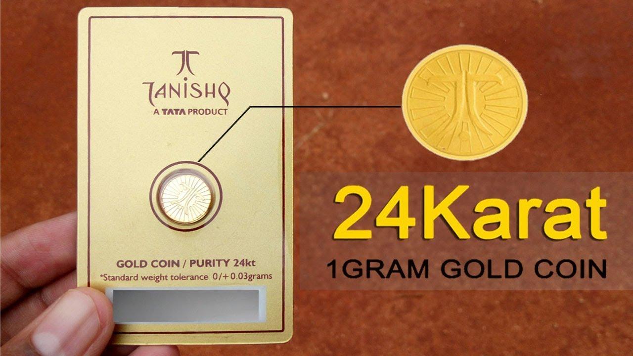 Tanishq 1gram 24karat Gold Coin You