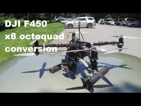 DJI F450 X8 Heavy Lift Evolution First Look part #3