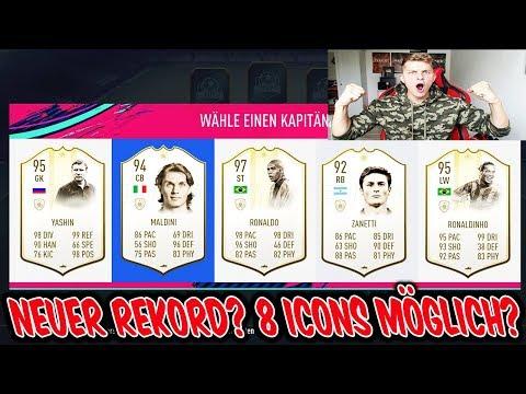 Ist der neue REKORD von 8 ICONS in 1 Fut Draft überhaupt möglich? - Fifa 19 Ultimate Team