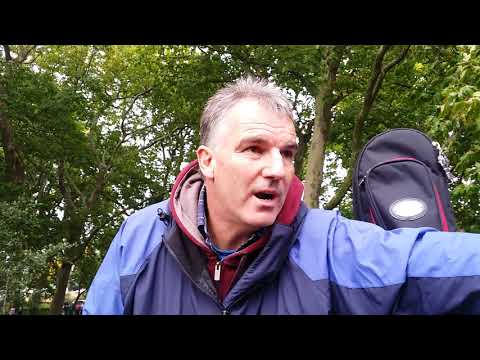 Man of God - Peace Sign - Speakers Corner Hyde Park London 10-9-17.
