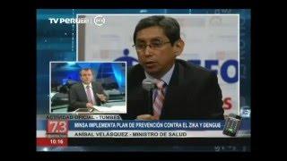 Perú fortalece acciones para prevenir el zika