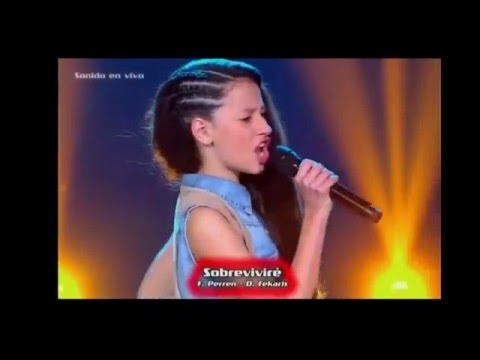 keyla canta sobrevivire  I will survive  spanish version