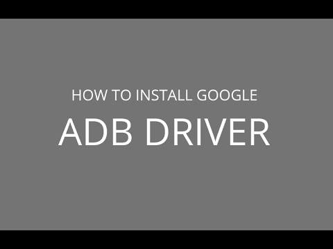 How to install Google ADB Driver