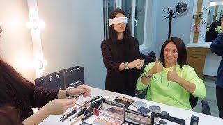 Trollediğim Kuaföre Meydan Okuma Gözü kapalı makyaj yapma challenge Fun Makeup Bidünya Oyuncak