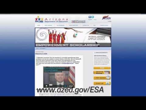 Arizona ESA Application Tutorial