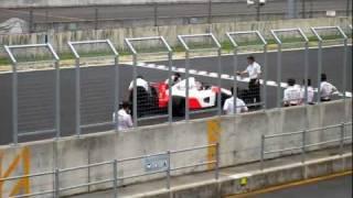With you Japanのイベントの締めとして、佐藤琢磨選手がMP4/6をドライブ...