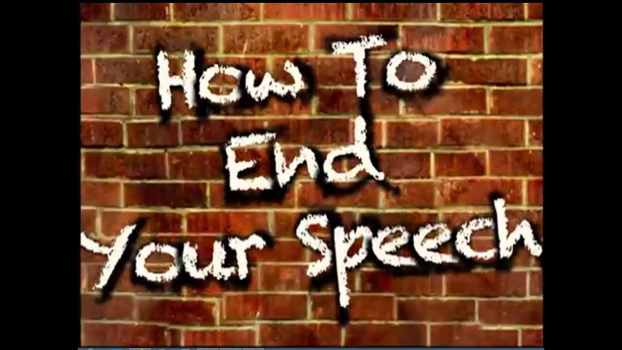how to conclude a speech examples