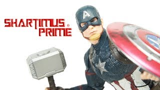 marvel legends worthy captain america avengers endgame movie walmart exclusive action figure review