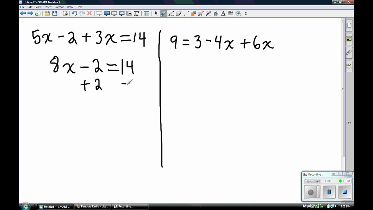 Solving Equations Combining Like Terms YouTube – Combining Like Terms Equations Worksheet