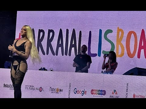 Pabllo Vittar em Lisboa - Portugal | Arraial Lisboa Pride | 2018 |