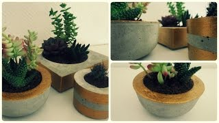 Blumentopf aus Beton * DIY * Concrete Planter [eng sub]