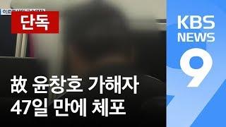[단독] 故 윤창호 가해자, 사고 47일 만에 체포…이르면 내일 영장 / KBS뉴스(News)