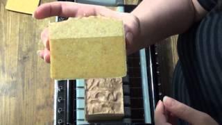 Cutting Banana Bread Rice Milk Vegan Silk Soap