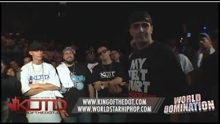 KOTD - Rap Battle - Dizaster vs HFK | #WD1
