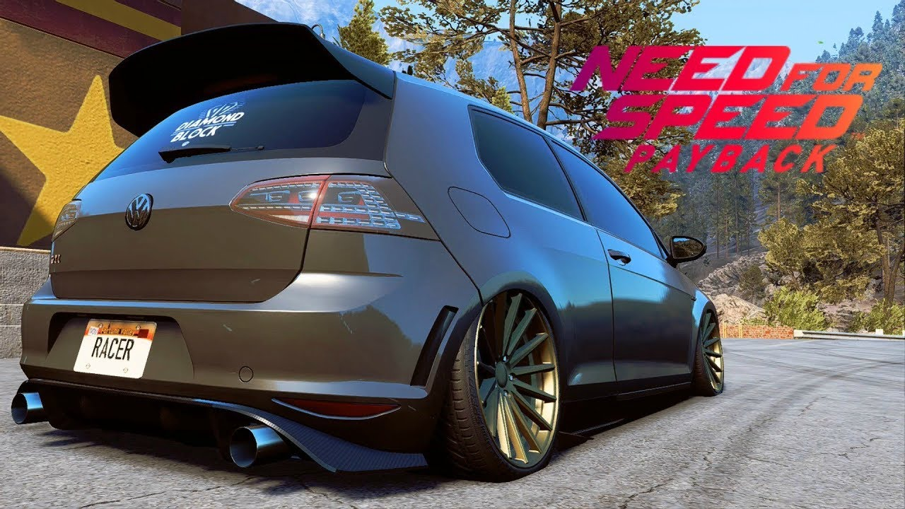 speed payback bagged vw golf gti clubsport car customization air suspension youtube