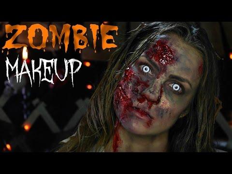 The Walking Dead: Zombie Makeup SFX Tutorial | Angela Lanter