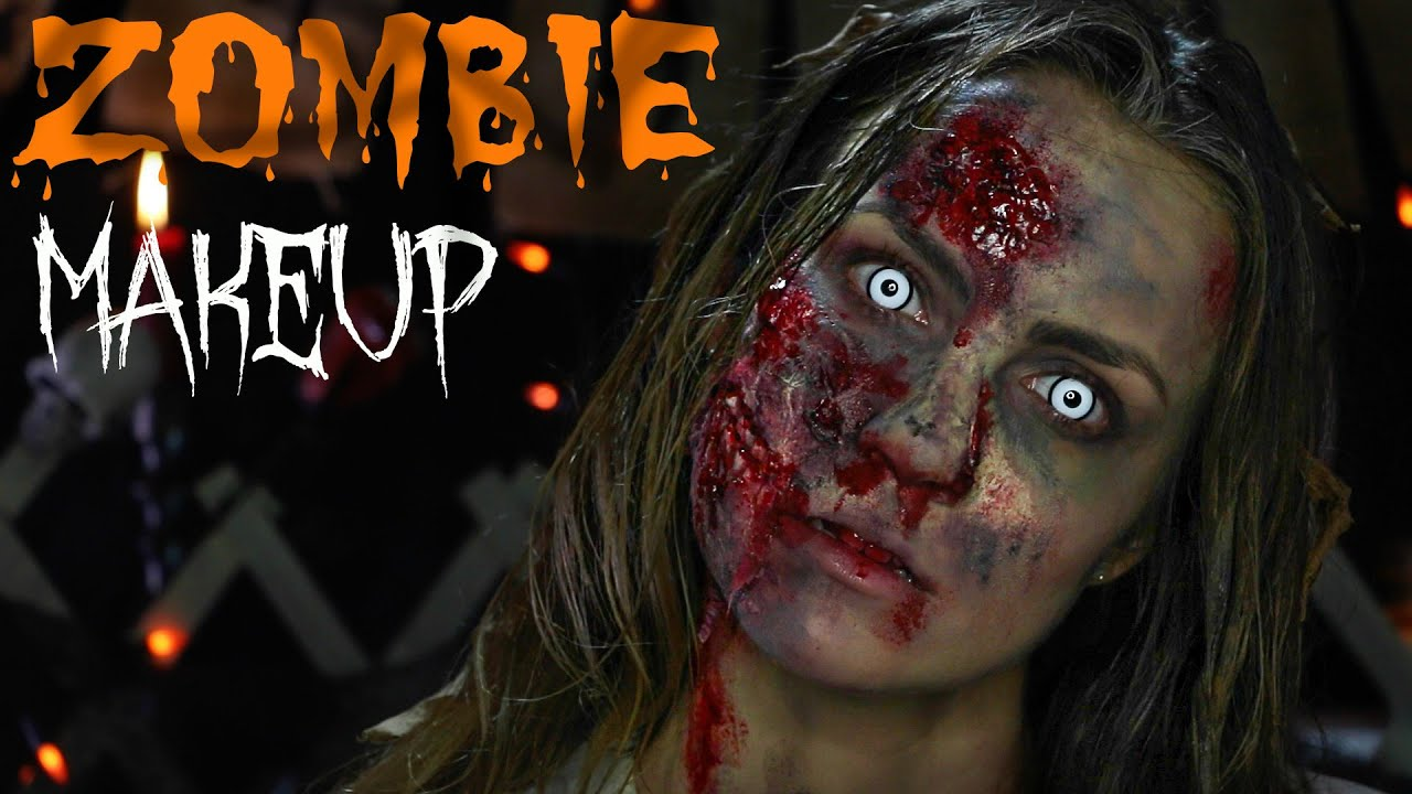 the walking dead: zombie makeup sfx tutorial | angela lanter - youtube
