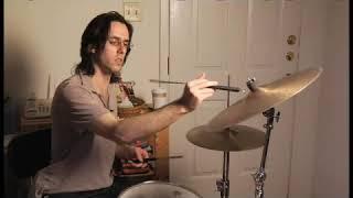 Playing a Brush Scrape on a Cymbal