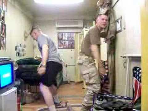 US Army Soldiers dancing to Bloodhound Gang  The Bad Touch