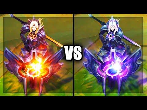 Solar Eclipse Leona vs Lunar Eclipse Leona Legendary Skins Comparison (League of Legends)
