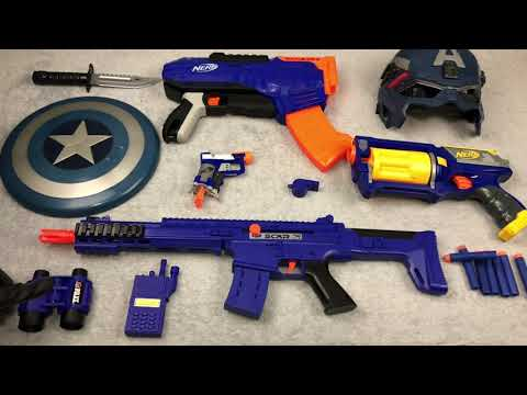 Blue Toy Guns Box Of Toys Captain America Toy Weapons